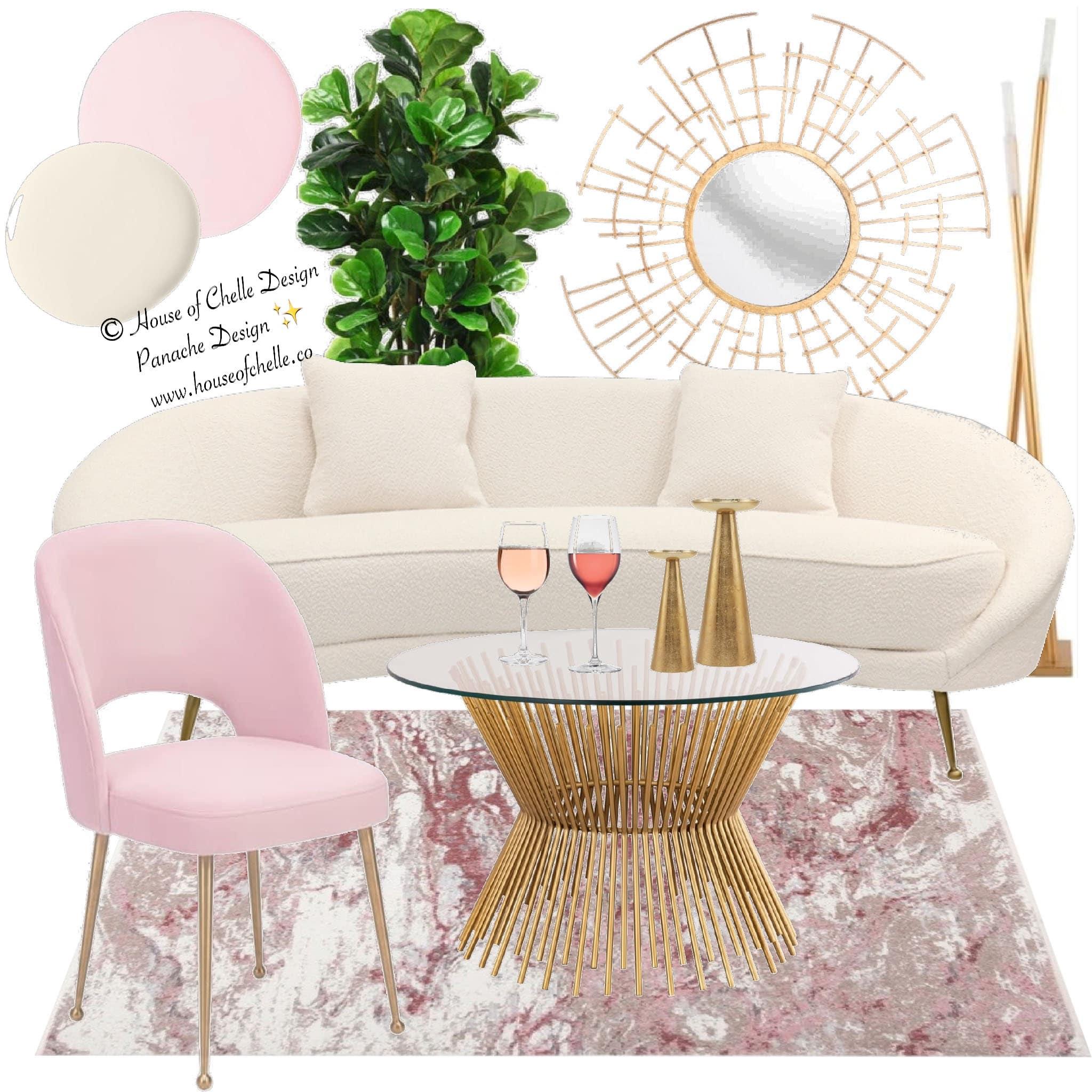 Online Interior Design Living Room Shop The Look Board 5 13 2020 Panache Design